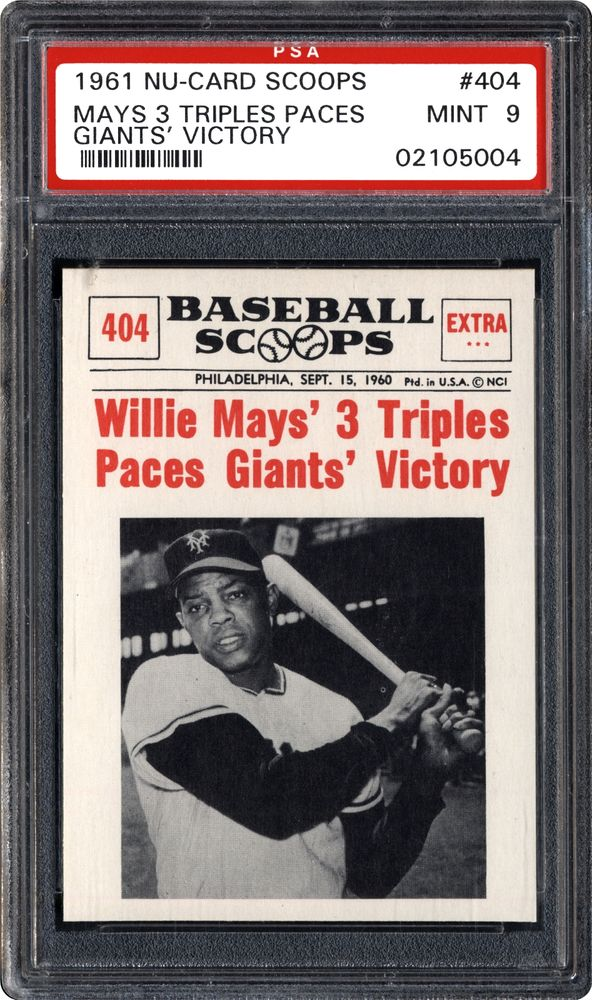 Baseball Cards 1961 Nu Card Scoops Images Psa Cardfacts