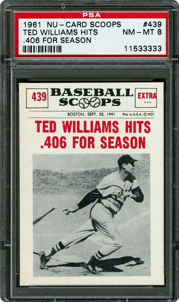 Baseball Cards 1961 Nu Card Scoops Psa Cardfacts
