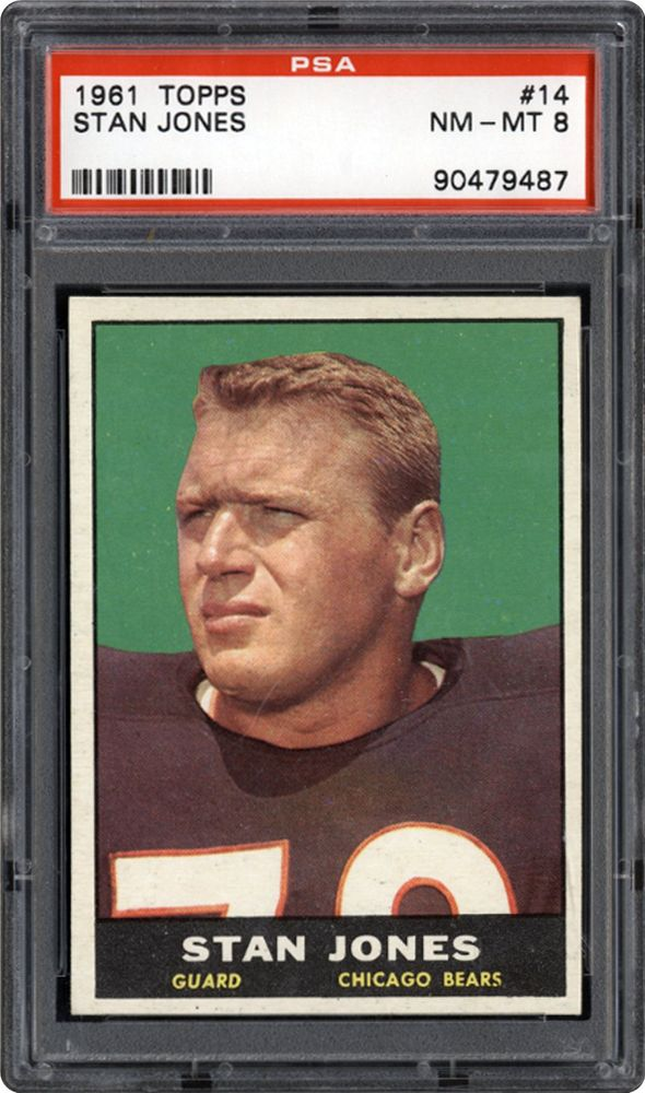 1961 Topps Stan Jones   PSA CardFacts™