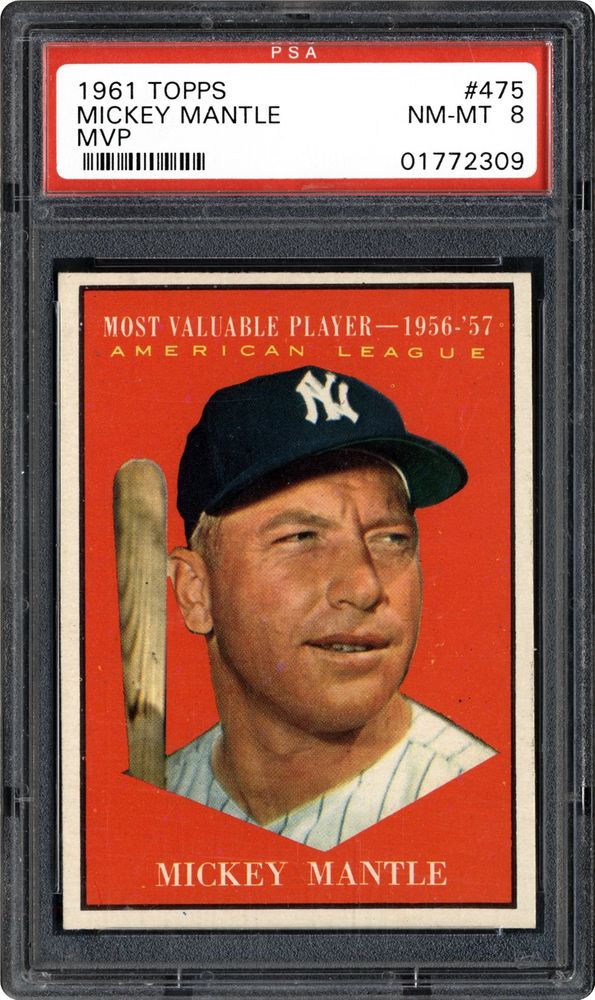 1961 Topps Mickey Mantle Mvp Psa Cardfacts