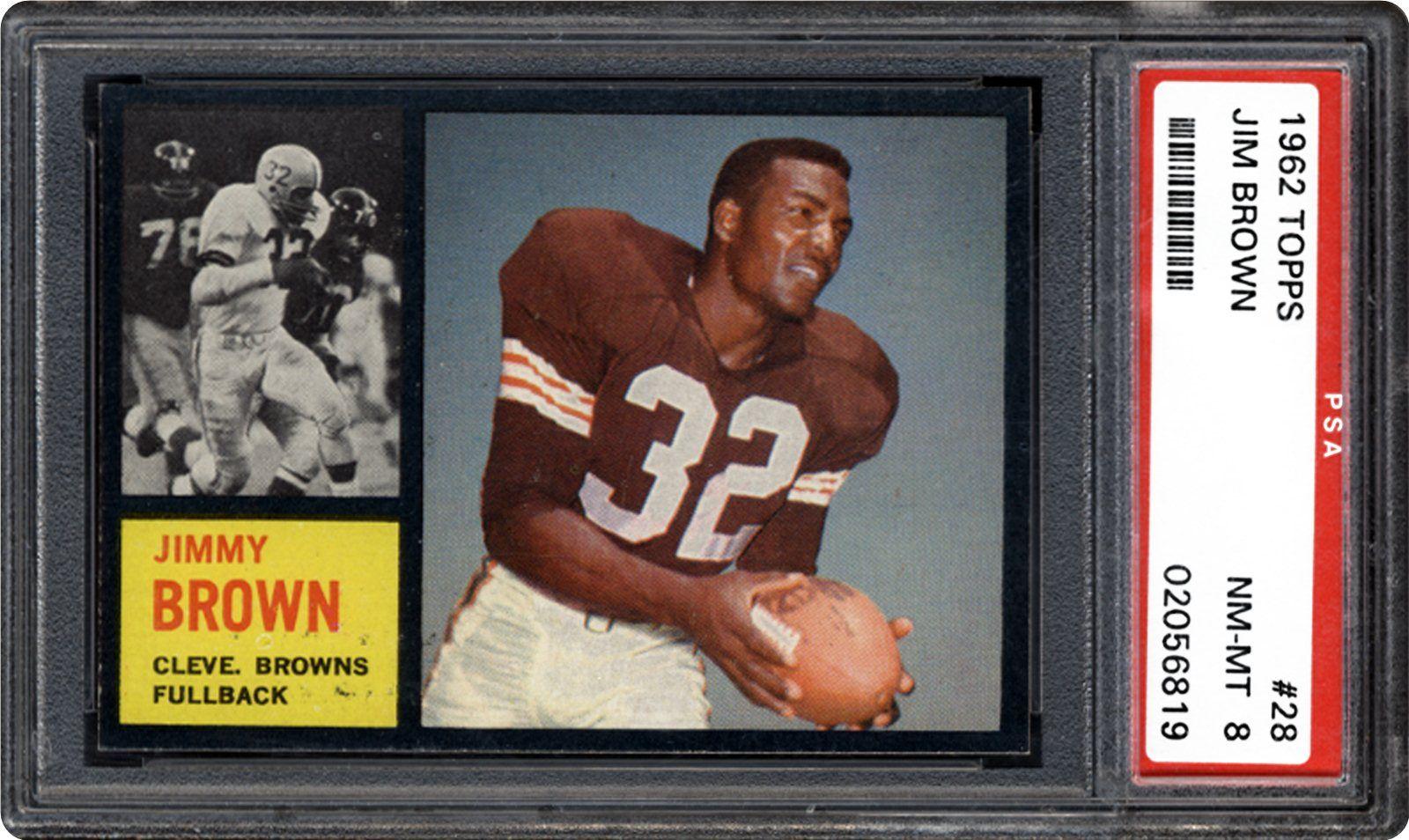 1962 Topps Jim Brown Psa Cardfacts
