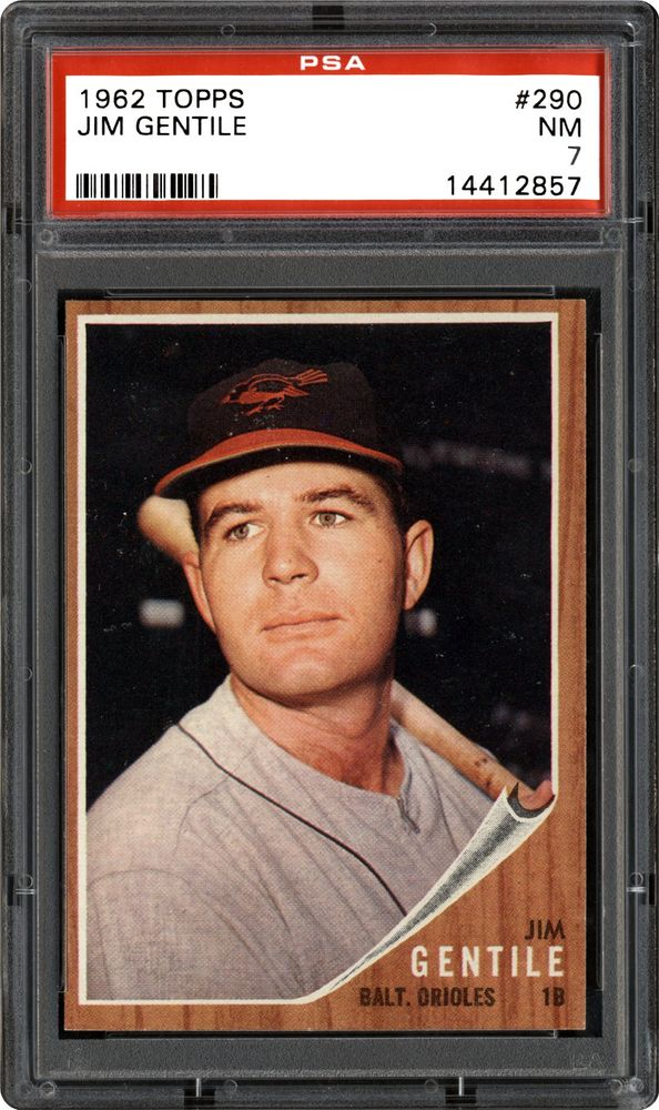 1962 Topps Jim Gentile Psa Cardfacts