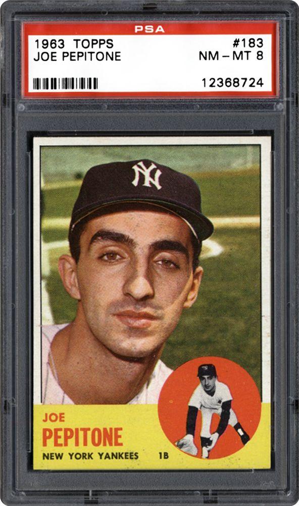 1963 Topps Joe Pepitone Psa Cardfacts