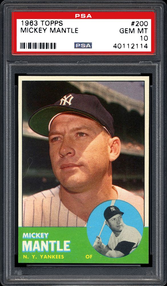 1963 Topps Mickey Mantle Psa Cardfacts
