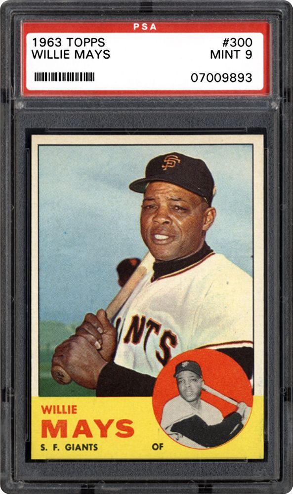 1963 Topps Willie Mays Psa Cardfacts