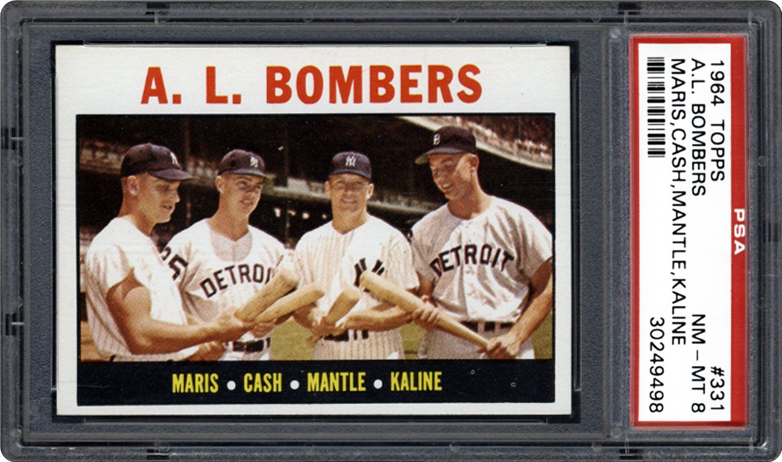 1964 Topps Al Bombers Roger Marisnorm Cashmickey Mantleal