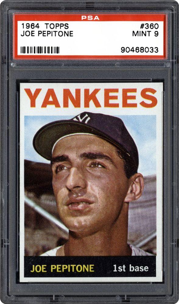 1964 Topps Joe Pepitone Psa Cardfacts