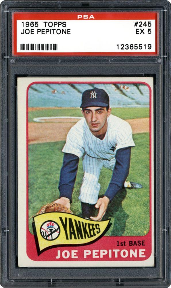 1965 Topps Joe Pepitone Psa Cardfacts