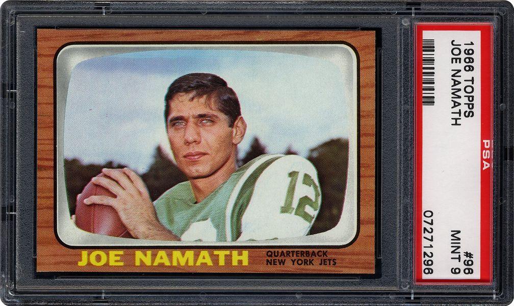 1966 topps joe namath  psa cardfacts®
