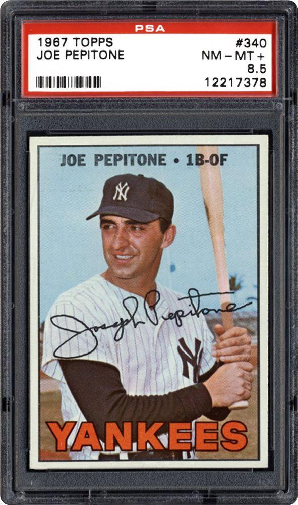 1967 Topps Joe Pepitone Psa Cardfacts