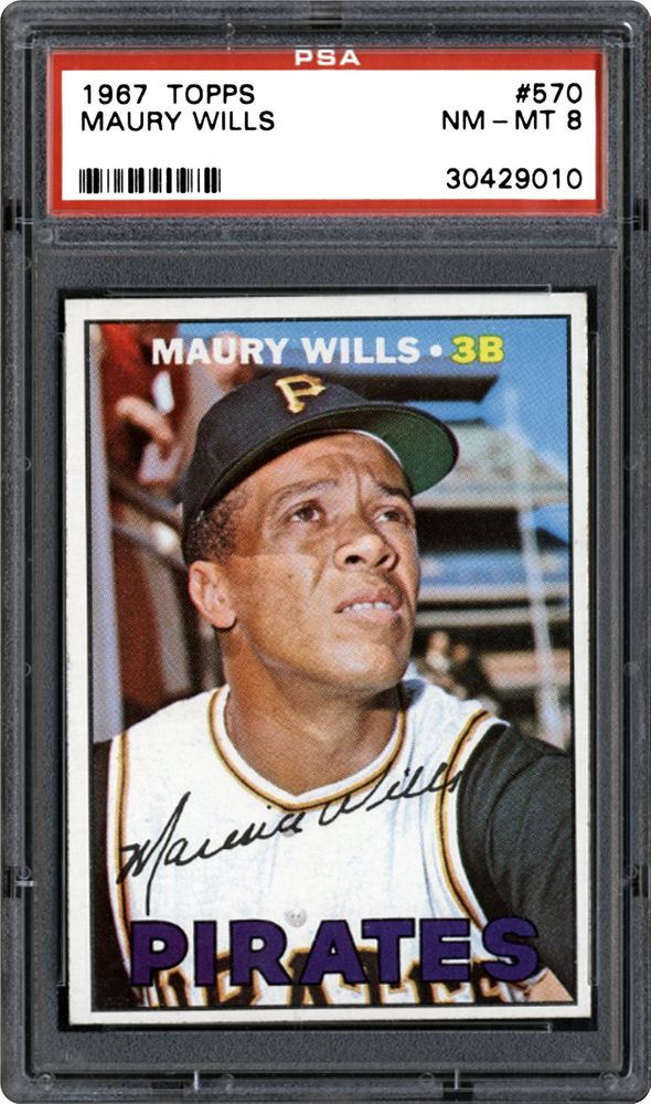 1967 Topps Maury Wills Psa Cardfacts