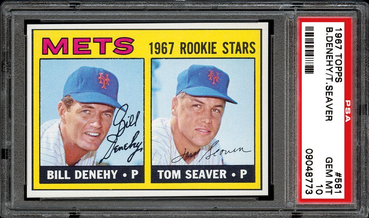 1967 Topps Mets Rookies Bill Denehytom Seaver Psa