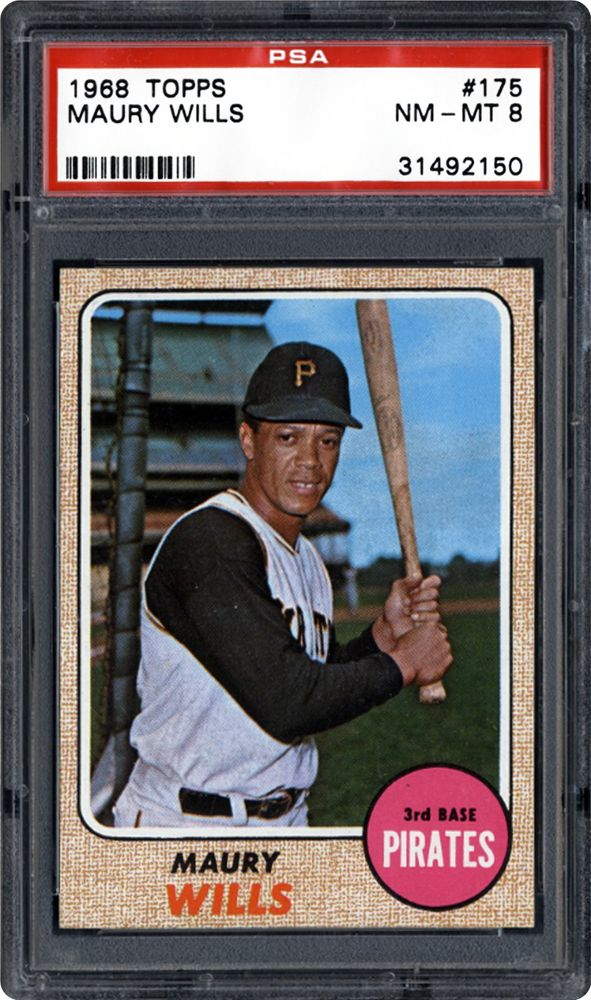 1968 Topps Maury Wills Psa Cardfacts