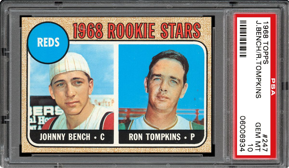 1968 Topps Reds Rookies Johnny Benchron Tompkins Psa Cardfacts