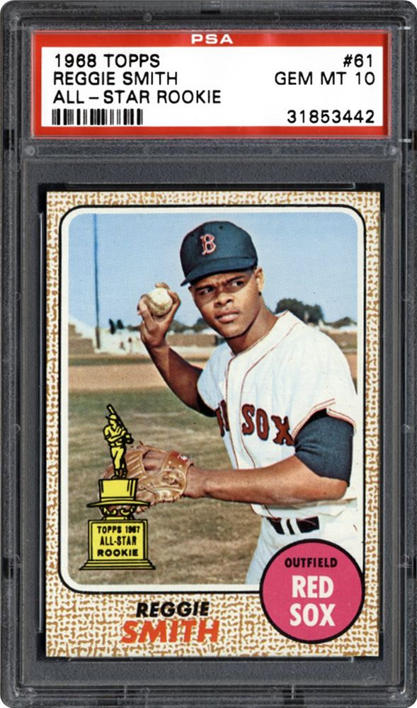 1968 Topps Reggie Smith All Star Rookie Psa Cardfacts