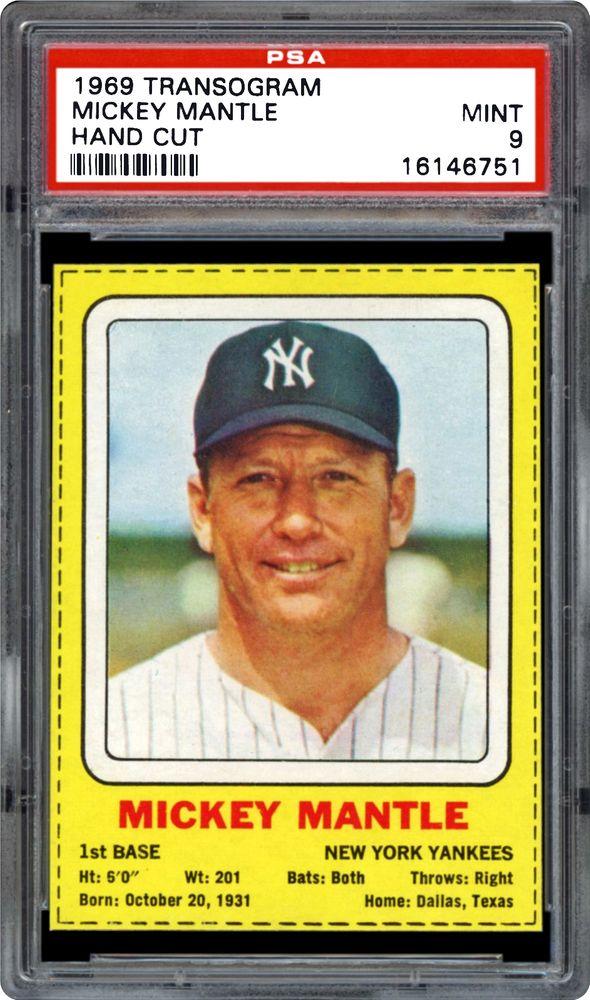 Baseball Cards 1969 Transogram Psa Cardfacts