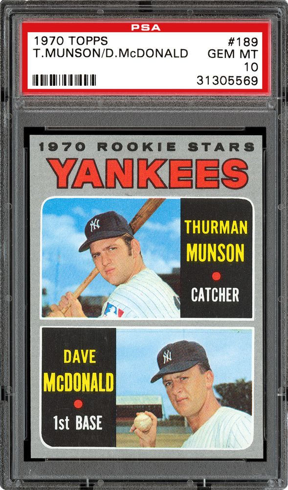 Baseball Cards 1970 Topps Psa Cardfacts