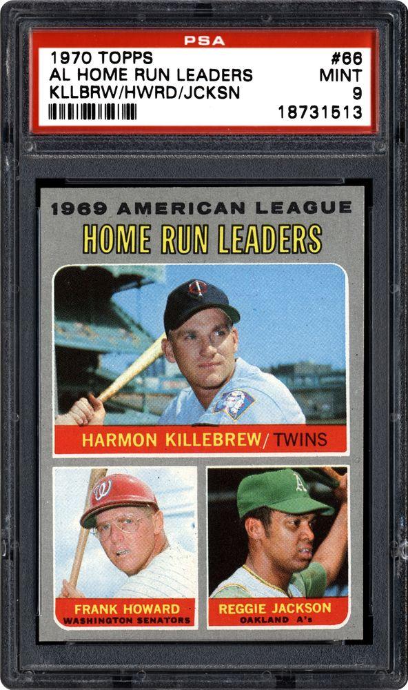 1970 Topps Al Home Run Leaders Harmon Killebrewfrank