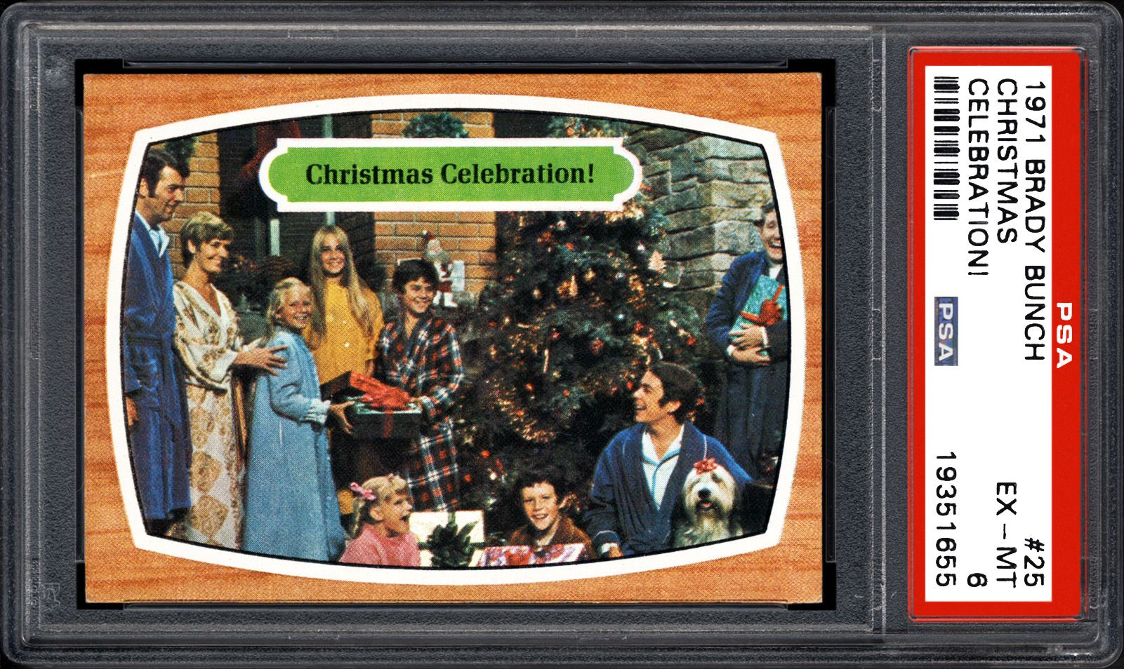 Brady Bunch Christmas Card.1971 Brady Bunch Christmas Celebration Psa Cardfacts