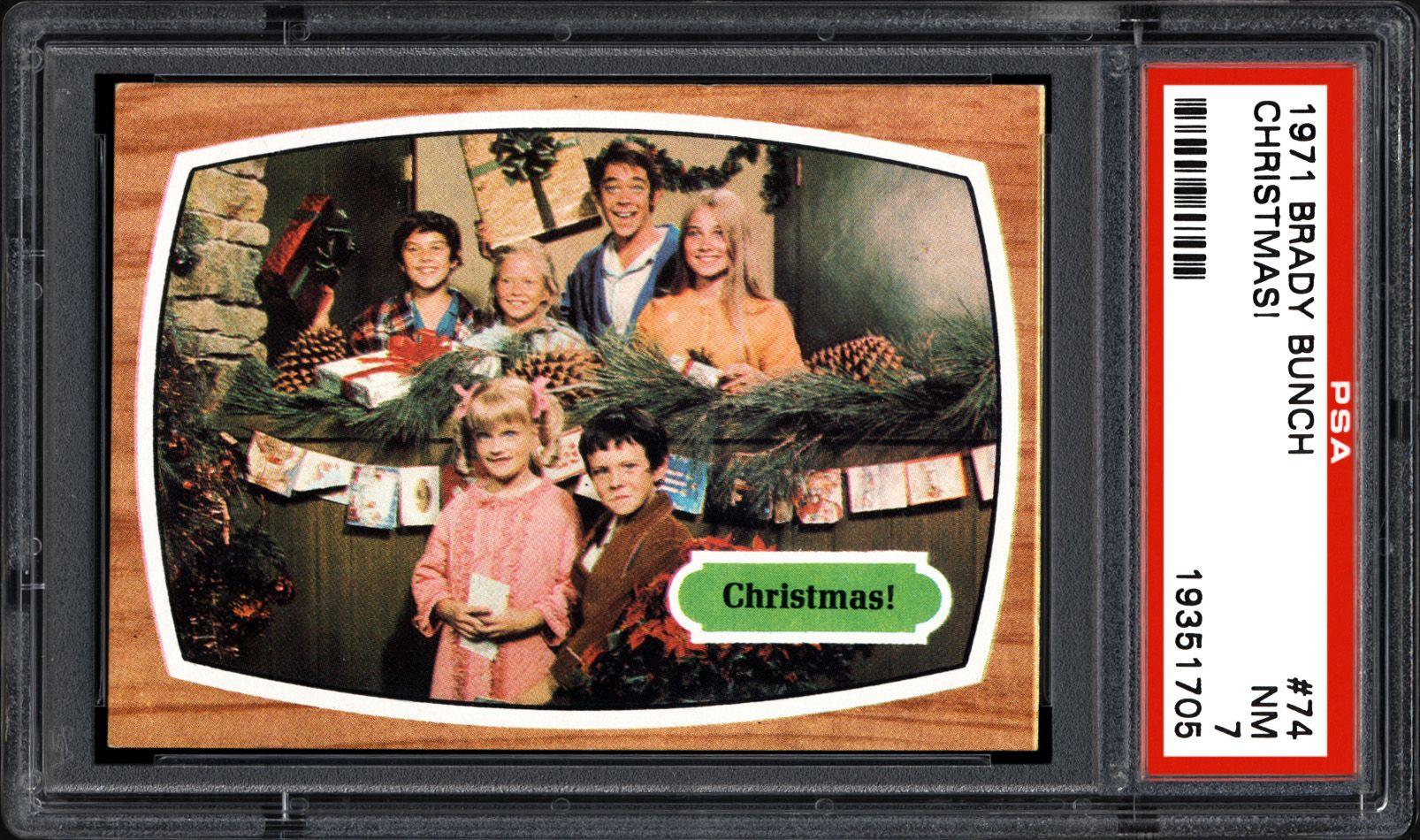 Brady Bunch Christmas Card.1971 Brady Bunch Christmas Psa Cardfacts