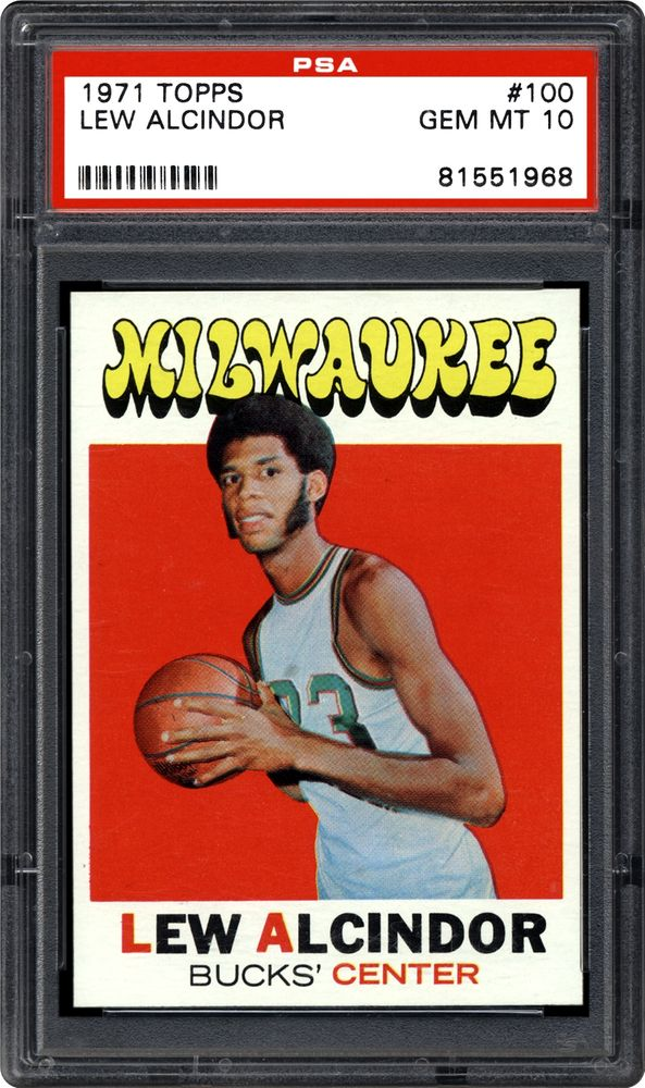 1971 Topps Lew Alcindor Psa Cardfacts
