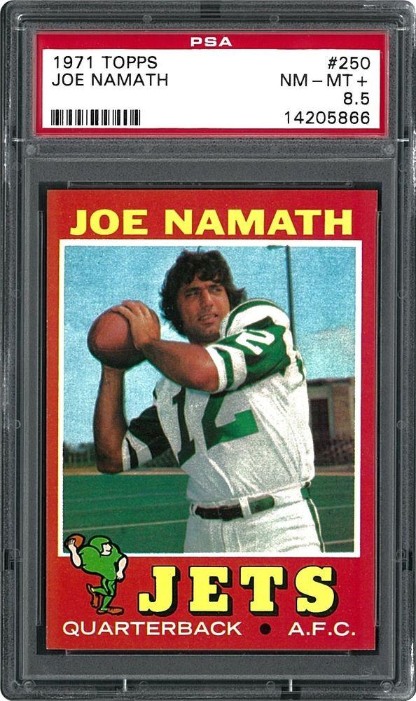 official photos 3a6ab 45fe3 1971 Topps Joe Namath | PSA CardFacts™