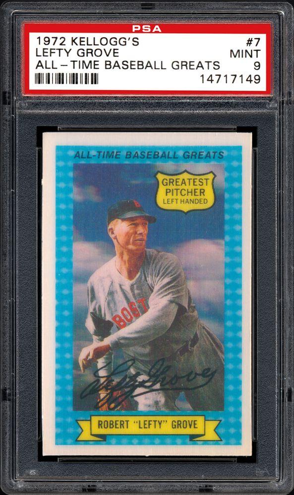 1972 Kelloggs All Time Baseball Greats Baseball Cards Psa