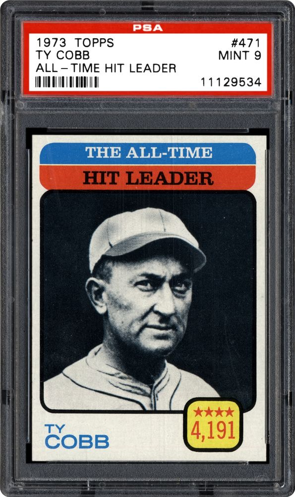 1973 Topps Ty Cobb All Time Hit Leader Psa Cardfacts