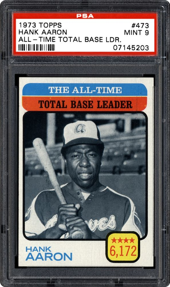 1973 Topps Hank Aaron All Time Total Base Leader Psa