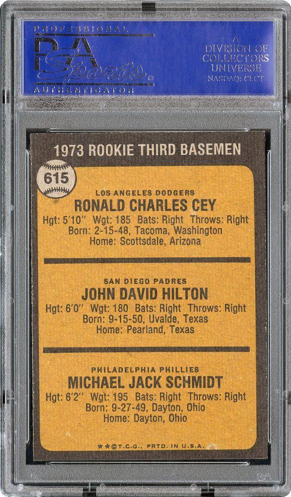 1973 Topps Rookie 3rd Basemen Ron Ceyjohn Hiltonmike