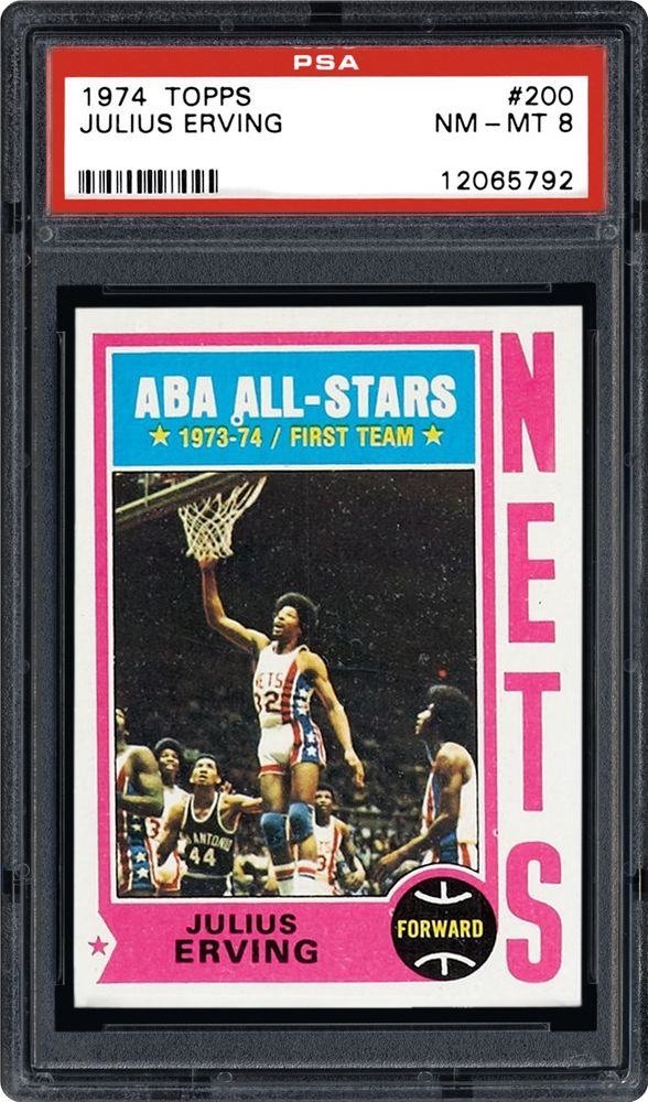 best sneakers 52937 0d446 1974 Topps Julius Erving | PSA CardFacts™
