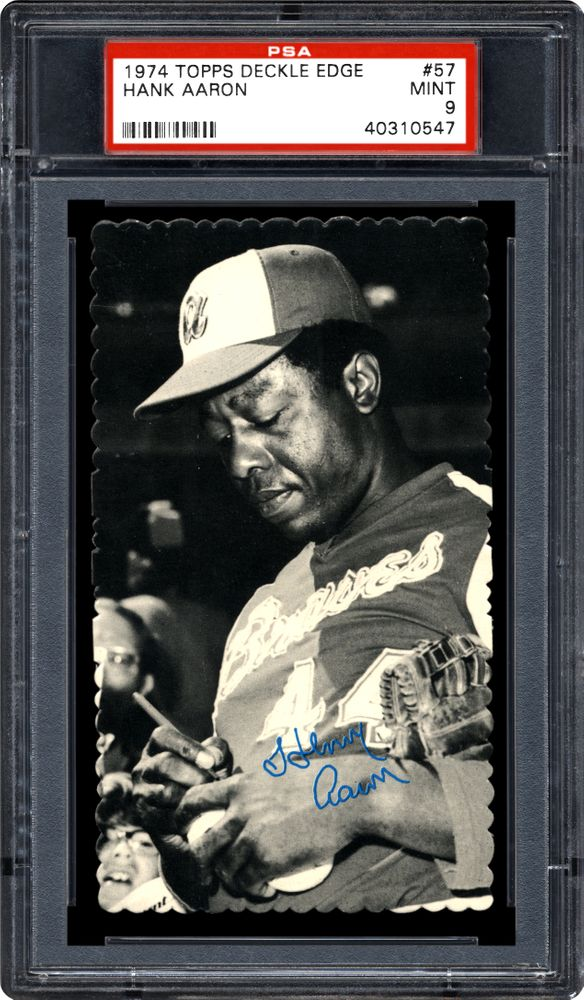 Image result for 1974 Topps deckle edge aaron