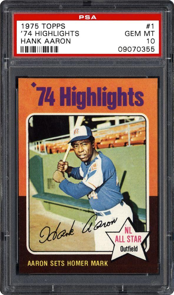 1975 Topps 74 Highlights Hank Aaron Psa Cardfacts
