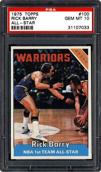 1975 Topps Rick Barry (All-Star) | PSA CardFacts™