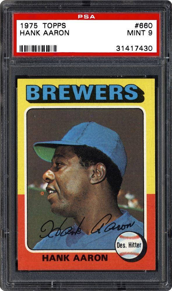 1975 Topps Hank Aaron Psa Cardfacts