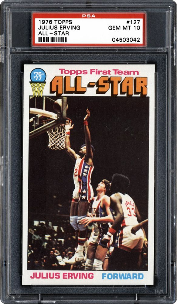 1976 Topps Julius Erving (All-Star)   PSA CardFacts™