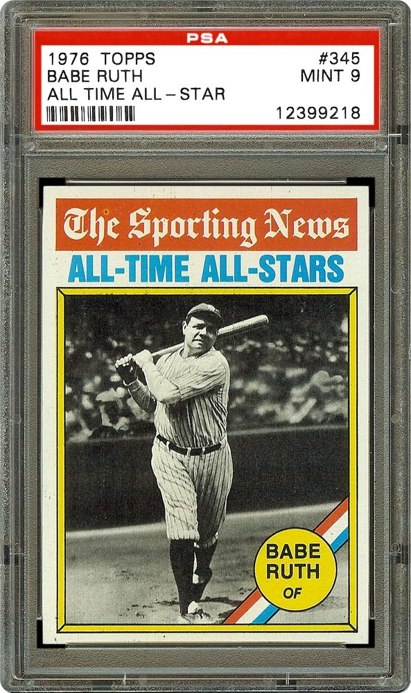 1976 topps babe ruth all time all star psa cardfacts. Black Bedroom Furniture Sets. Home Design Ideas
