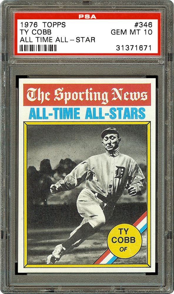 1976 Topps Ty Cobb All Time All Star Psa Cardfacts
