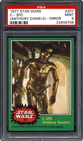 | Star PSA CardFacts™ C-3PO 1977 Wars (Anthony Daniels)