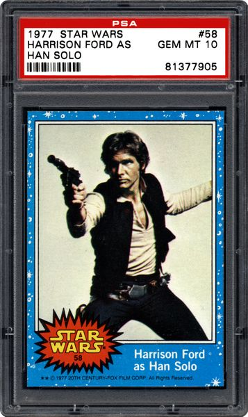 Early Ford Store >> 1977 Star Wars Harrison Ford As Han Solo | PSA CardFacts™