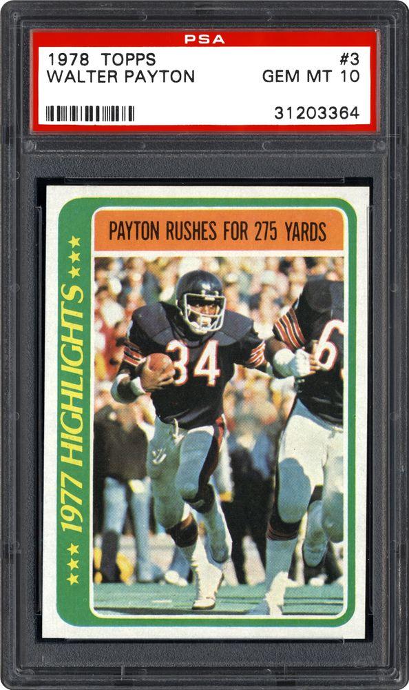 1978 Topps Walter Payton Psa Cardfacts