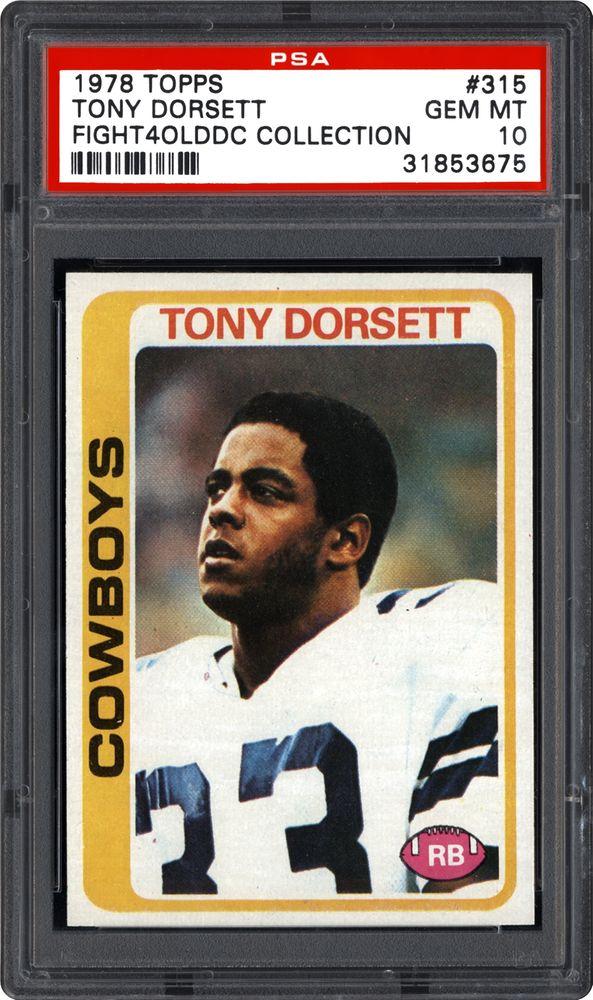 1978 Topps Tony Dorsett Psa Cardfacts