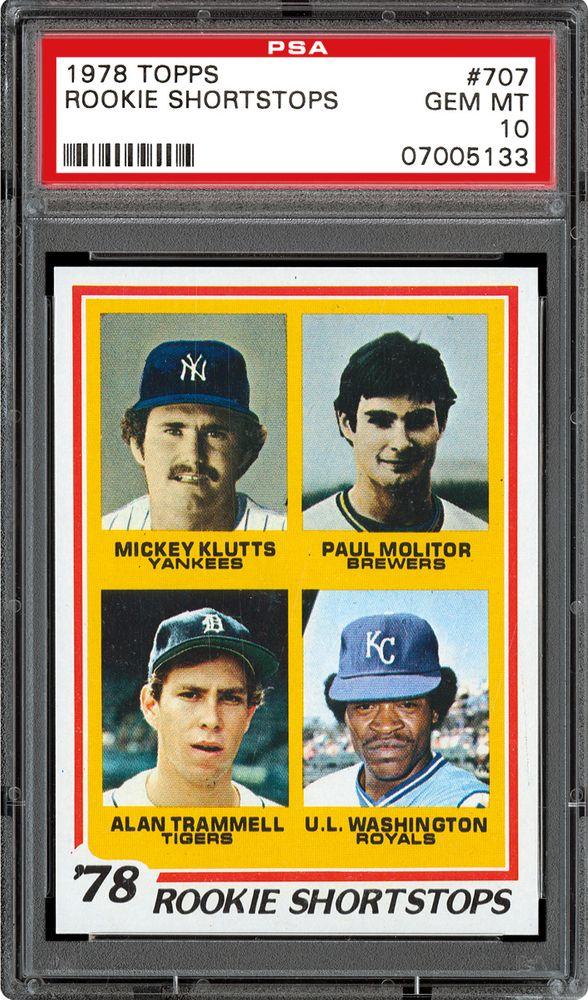 1978 Topps Rookie Shortstops Mickey Kluttspaul Molitor