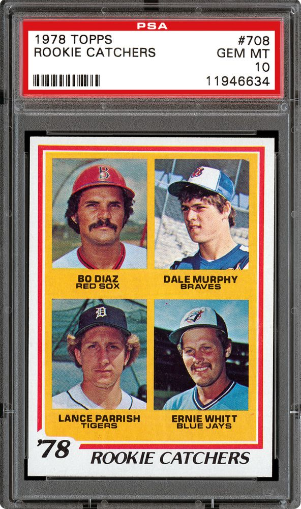 1978 Topps Rookie Catchers Bo Diazdale Murphylance
