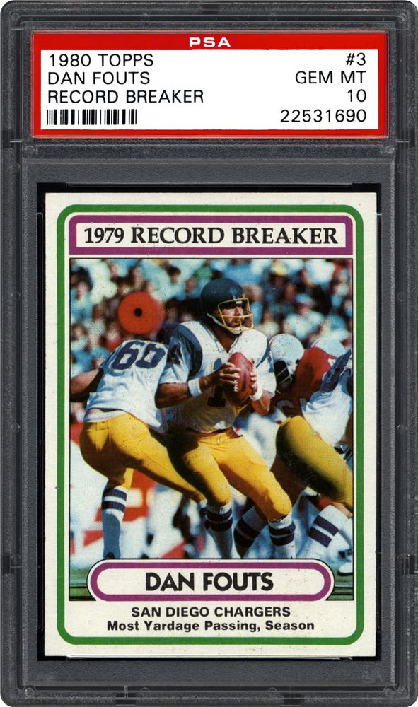 1980 Topps Dan Fouts Record Breaker Psa Cardfacts