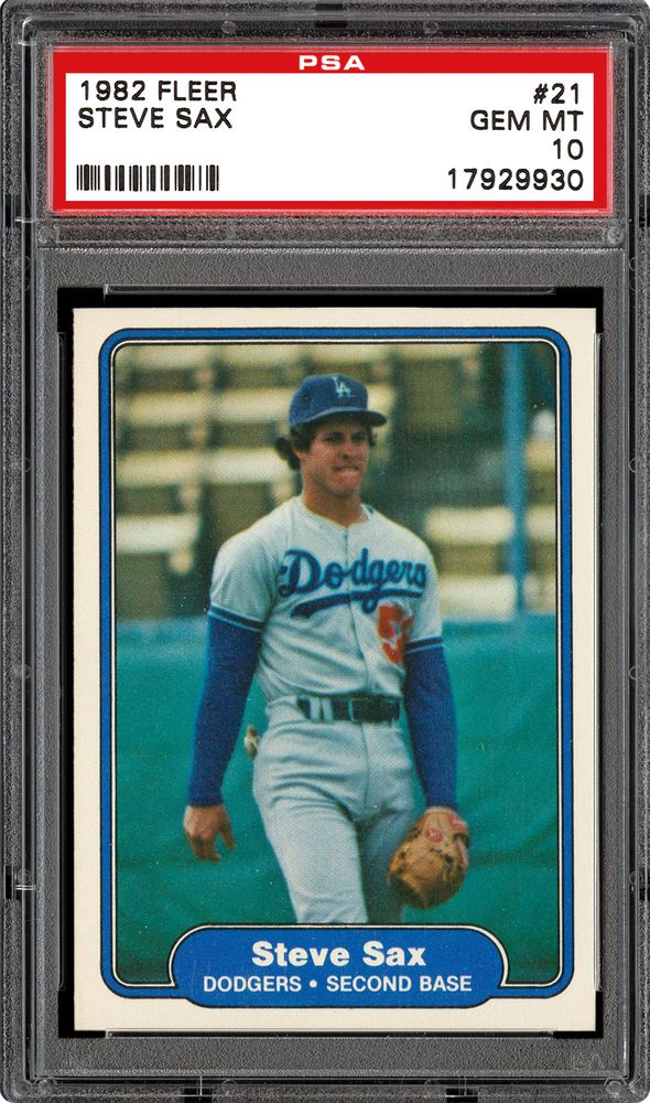 Auction Prices Realized Baseball Cards 1982 Fleer Steve Sax