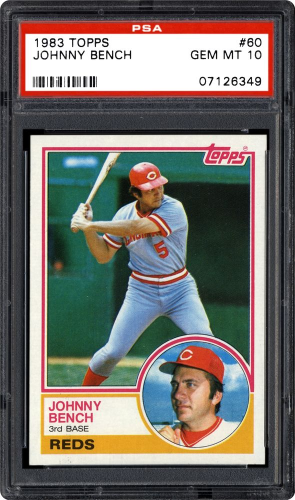 1983 Topps Johnny Bench Psa Cardfacts
