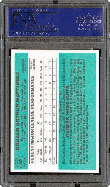 1984 Donruss Don Mattingly Psa Cardfacts