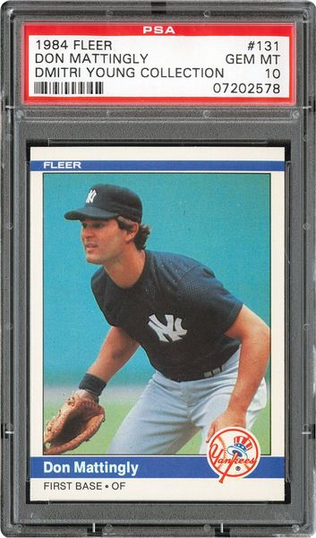 1984 Fleer Don Mattingly Psa Cardfacts