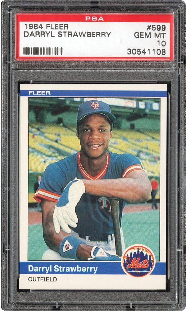 Baseball Cards 1984 Fleer Psa Cardfacts